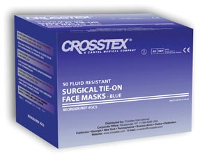 CROSSTEX ADVANTAGE SURGICAL MASK WITH TIE-ON LACES