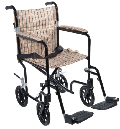 DRIVE MEDICAL DELUXE FLY-WEIGHT DELUXE ALUMINUM TRANSPORT CHAIR