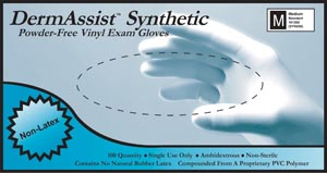 INNOVATIVE DERMASSIST VINYL SYNTHETIC POWDER-FREE EXAM GLOVES