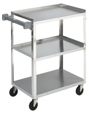 BREWER MEDIUM/HEAVY DUTY STAINLESS STEEL UTILITY CART