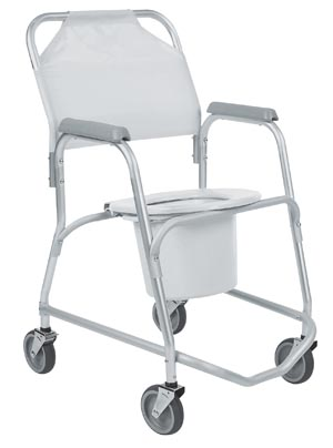 INVACARE MOBILE SHOWER CHAIR/REHAB SHOWER COMMODE CHAIR
