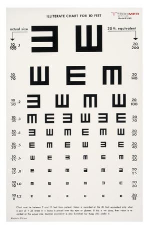TECH-MED EYE CHARTS