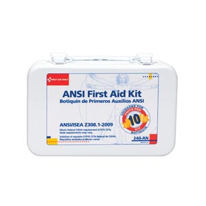 FIRST AID ONLY 10 PERSON ANSI Z308, 1-2003 COMPLIANT KITS