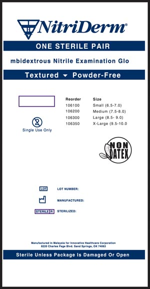 INNOVATIVE NITRIDERM STERILE POWDER-FREE GLOVES <font color=&quot;#FF0000&quot;>(Over Stock Item)</font>