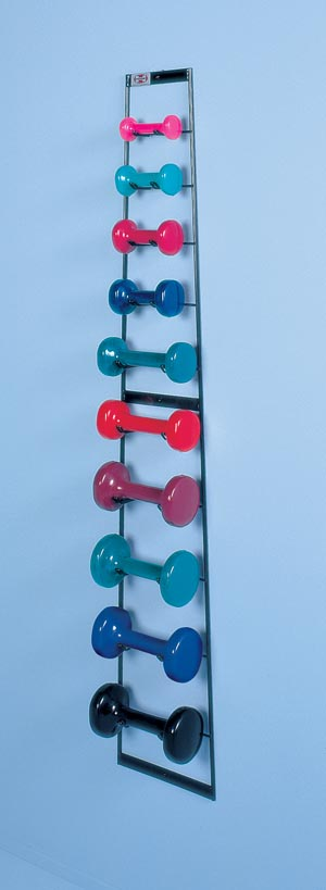 HAUSMANN DUMBBELL RACK/TREE & WEIGHTS