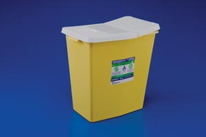 KENDALL CHEMOSAFETY CONTAINERS WITH SLIDING LIDS