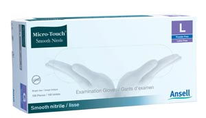 ANSELL MICRO-TOUCH SMOOTH NITRILE EXAMINATION GLOVES