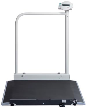 SECA 676 ELECTRONIC WHEELCHAIR SCALE WITH HANDRAIL